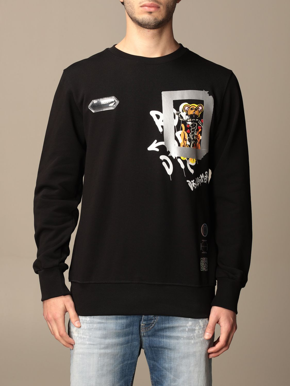 Sweatshirt Disclaimer: Sweatshirt homme Dislaimer noir 1