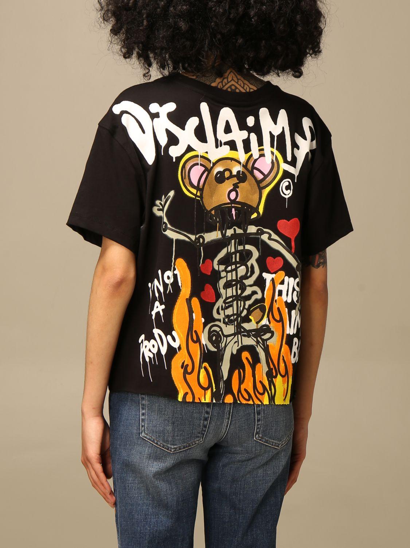 T-shirt Disclaimer: T-shirt femme Dislaimer noir 2