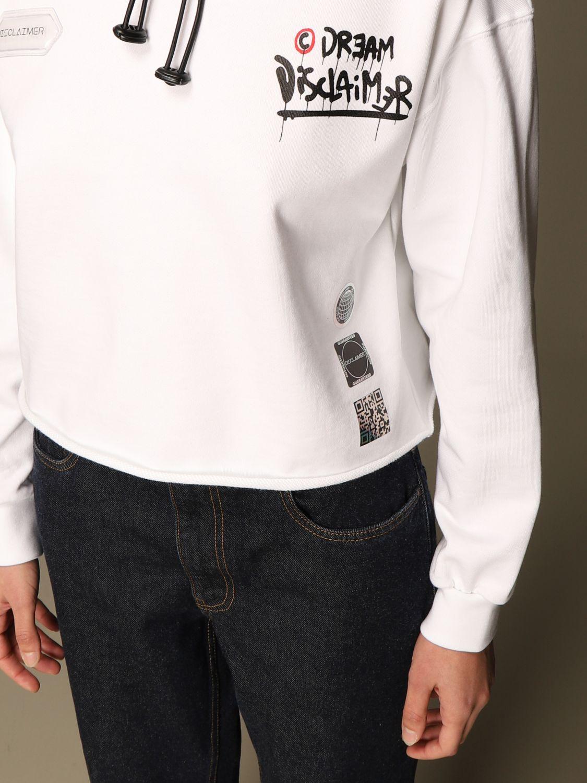 Sweat-shirt Disclaimer: Sweat-shirt femme Dislaimer blanc 3
