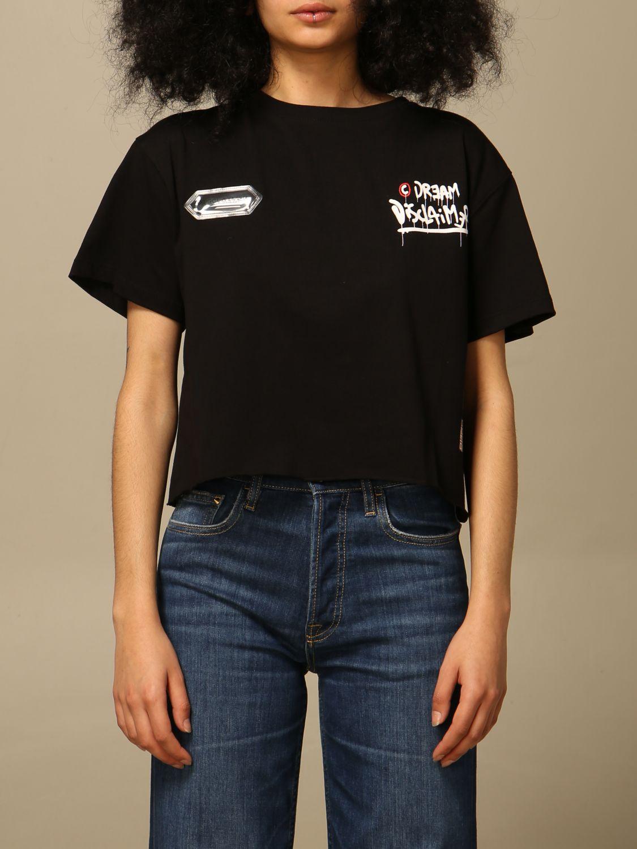 T-shirt Disclaimer: T-shirt femme Dislaimer noir 1