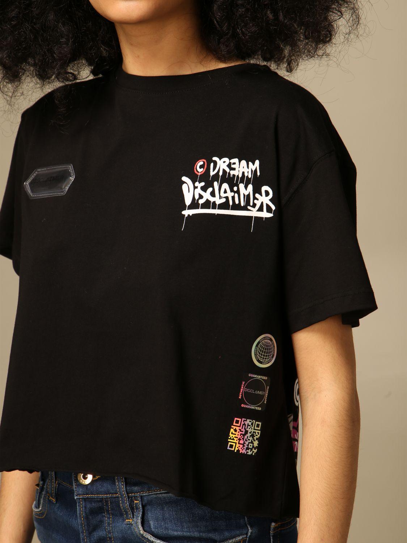 T-shirt Disclaimer: T-shirt femme Dislaimer noir 3