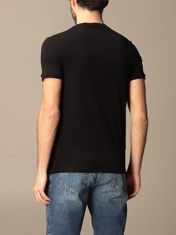 T-shirt Balmain: Half sleeve crew neck with logo black 3