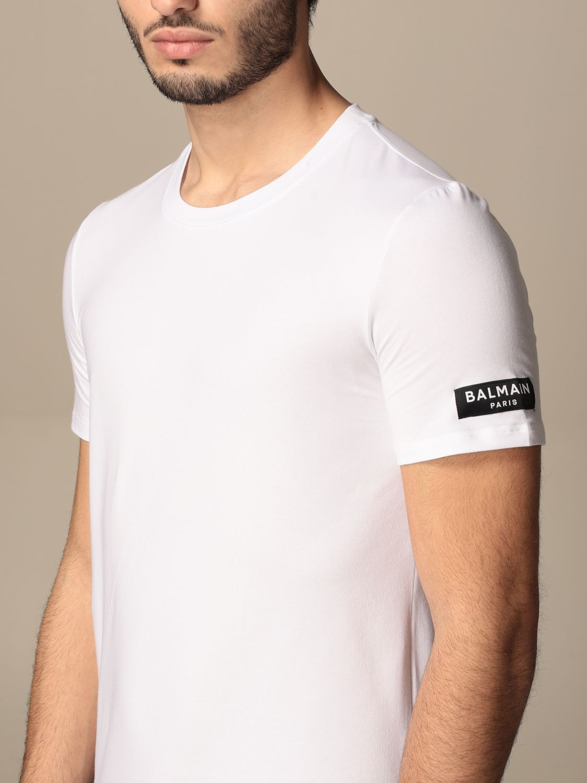 T-shirt Balmain: Balmain cotton t-shirt with logo white 4