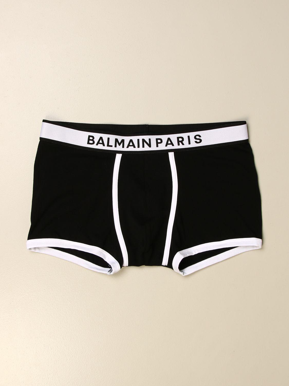Intimo Balmain: Mutanda a parigamba Balmain in jersey con logo nero 1