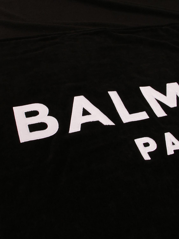 Beach towel Balmain: Balmain terry beach towel with logo black 2
