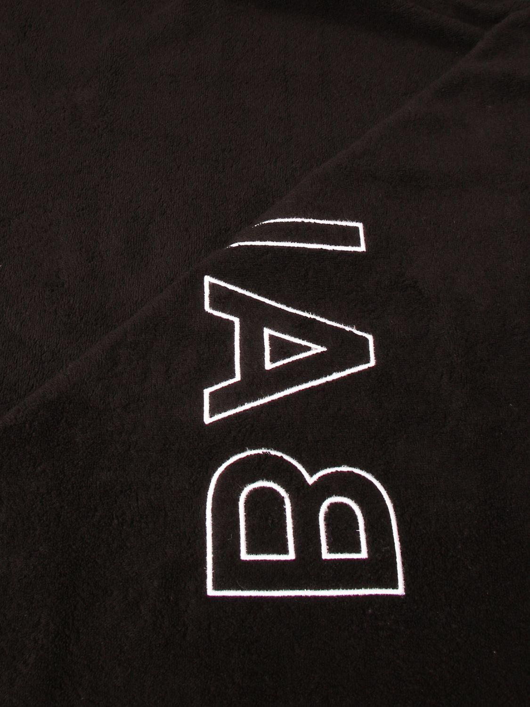 Beach towel Balmain: Balmain terry beach towel with logo black 3
