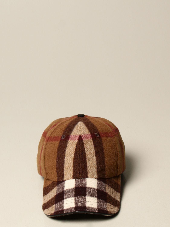 Cappello Burberry: Cappello da baseball Burberry in lana check marrone 2