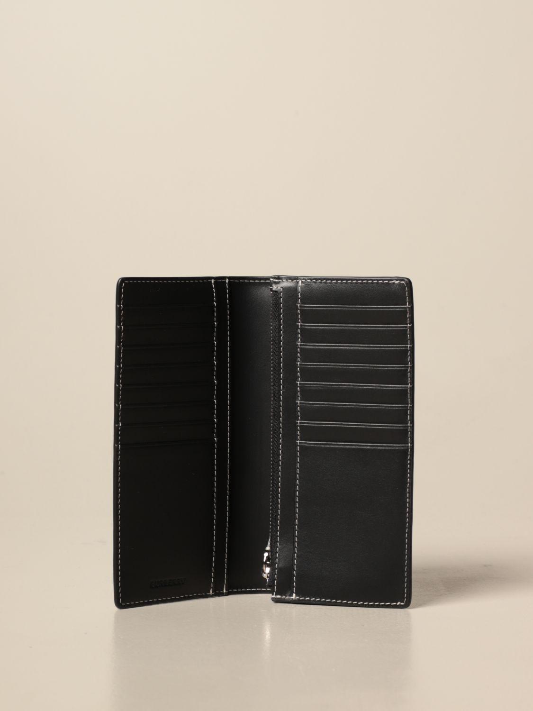 Portafoglio Burberry: Portafoglio Burberry in E-canvas check e pelle marrone 2
