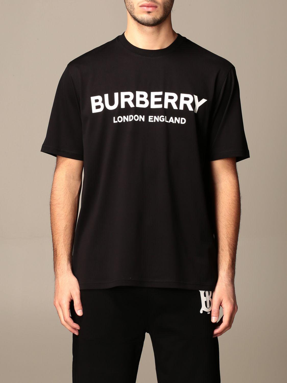 T-shirt Burberry: Letchford Burberry cotton t-shirt with logo black 1