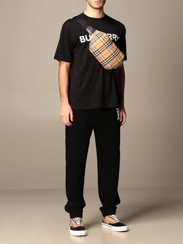 T-shirt Burberry: Letchford Burberry cotton t-shirt with logo black 2