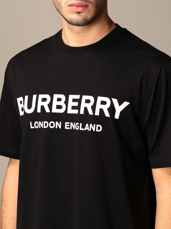 T-shirt Burberry: Letchford Burberry cotton t-shirt with logo black 4