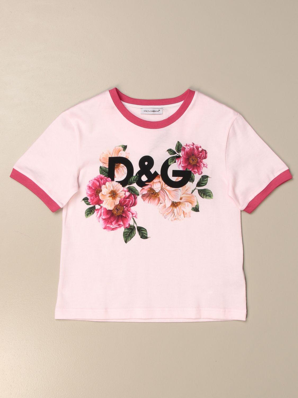 T-shirt Dolce & Gabbana: T-shirt Dolce & Gabbana con logo DG floreale bianco 1