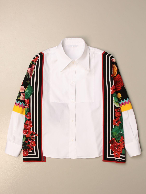 Shirt Dolce & Gabbana: Dolce & Gabbana poplin shirt with patterned panels multicolor 1