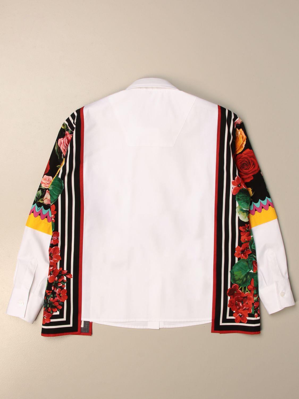Shirt Dolce & Gabbana: Dolce & Gabbana poplin shirt with patterned panels multicolor 2