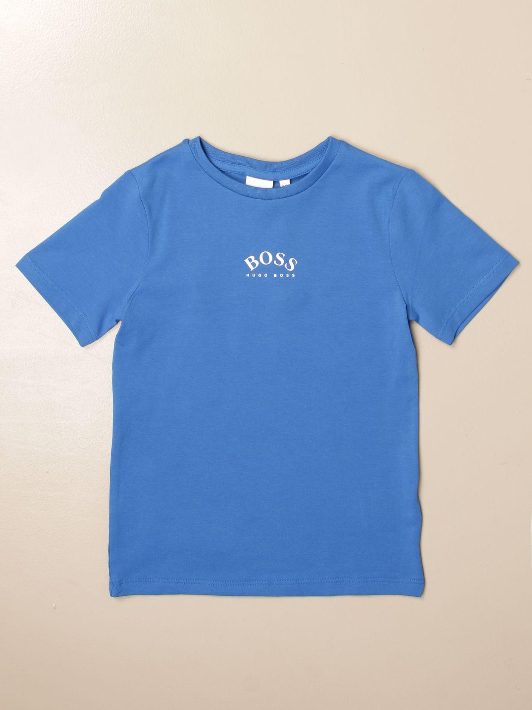 T-shirt Hugo Boss: Hugo Boss cotton t-shirt with logo royal blue 1