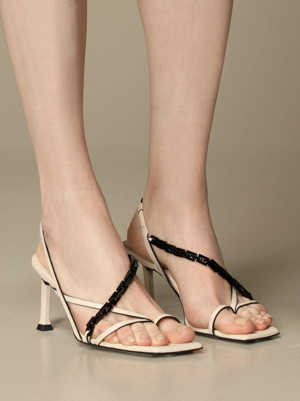 高跟凉鞋 Paciotti: 鞋 女士 Paciotti 奶油黄 2
