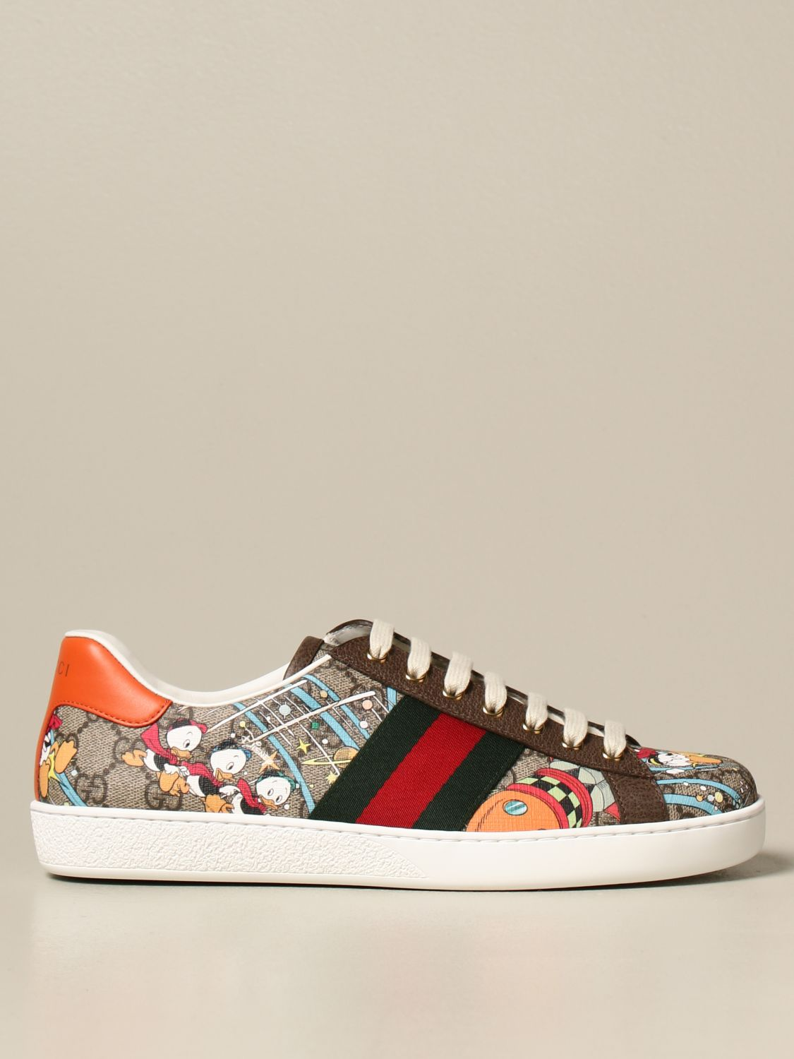 Sneakers Gucci: Sneakers Ace Donald Duck Disney x Gucci beige 1