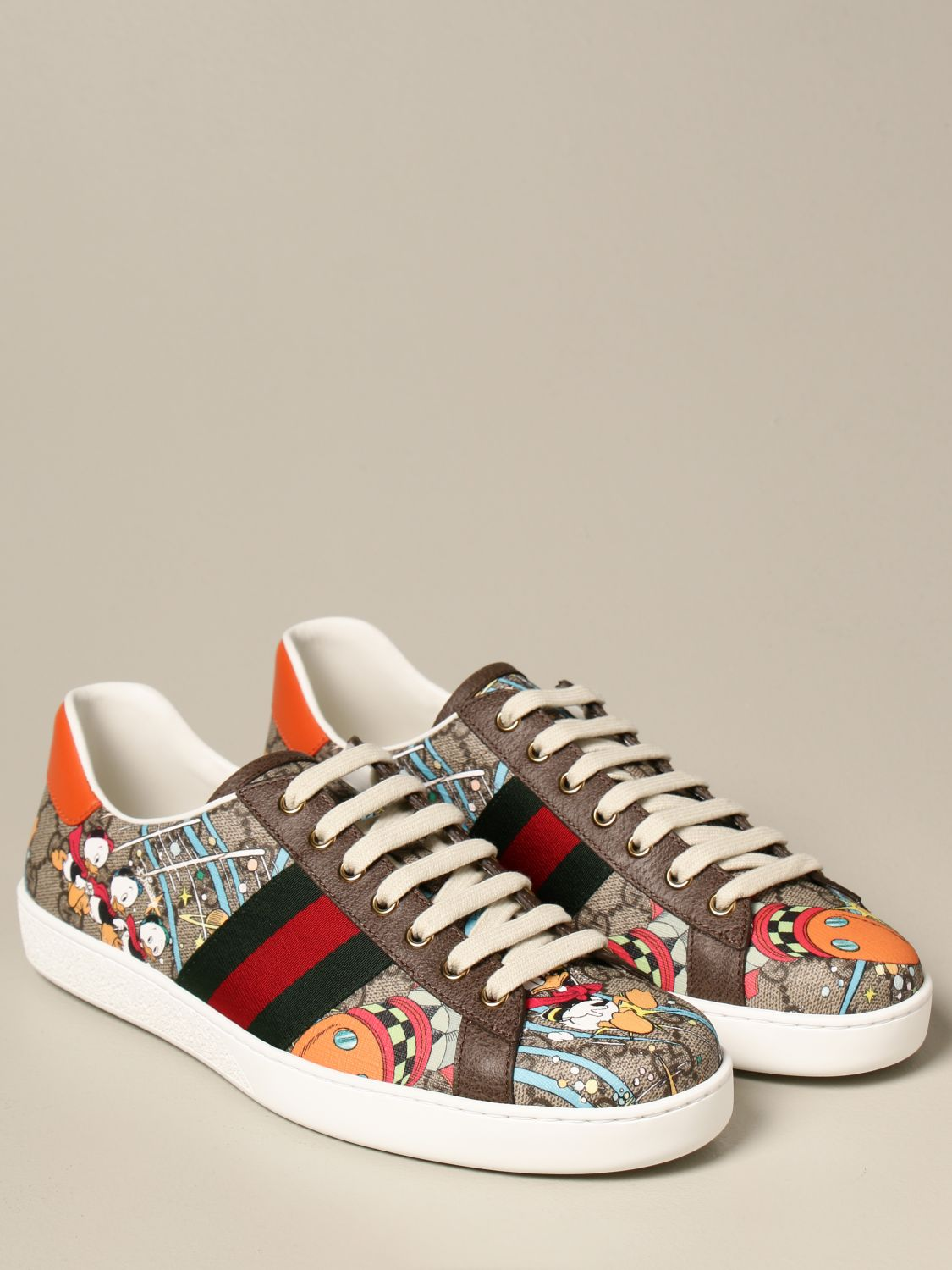 Sneakers Gucci: Sneakers Ace Donald Duck Disney x Gucci beige 2