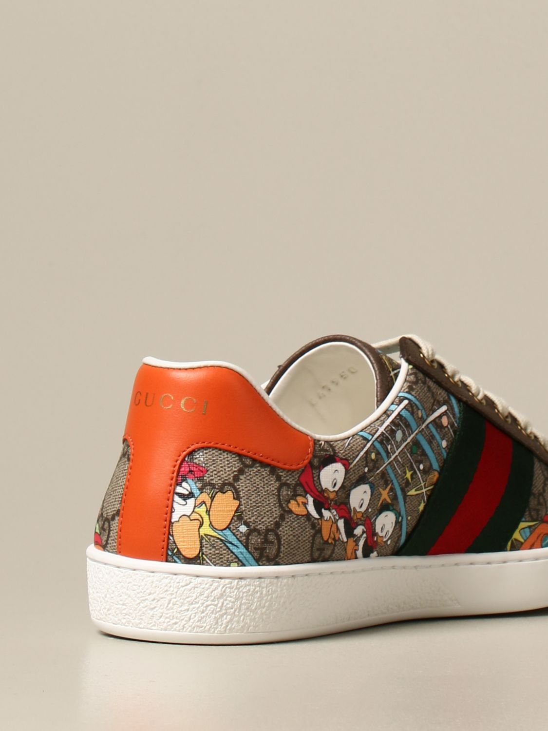 Sneakers Gucci: Sneakers Ace Donald Duck Disney x Gucci beige 3