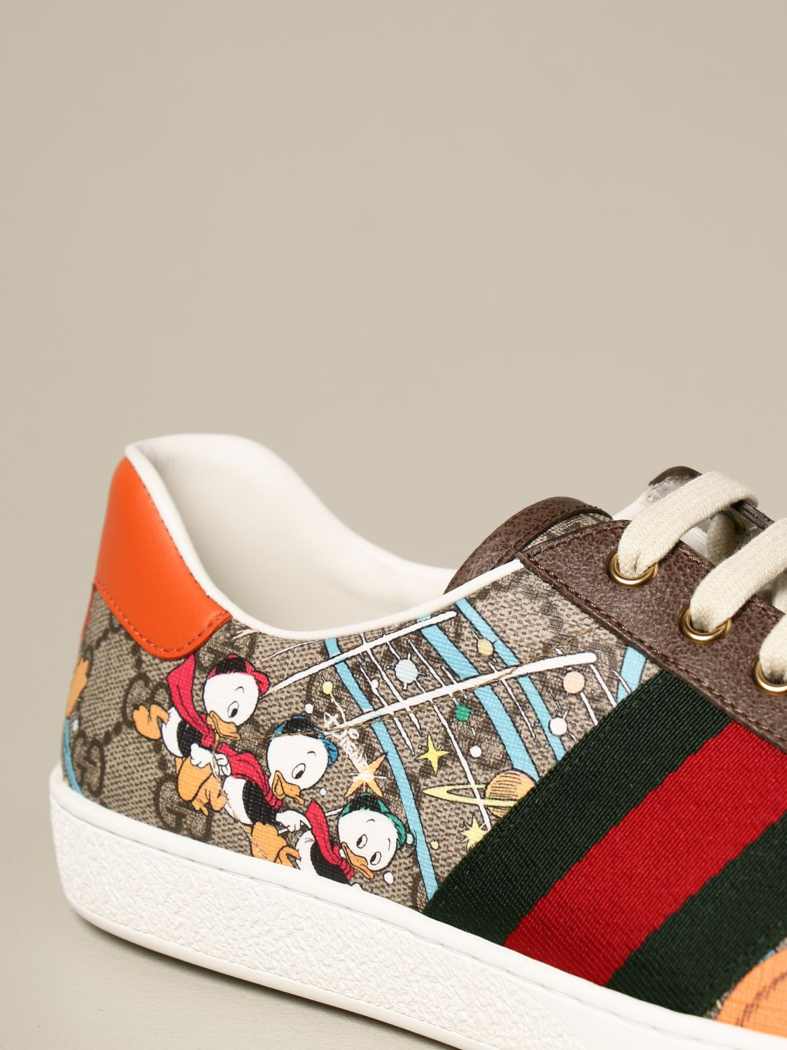 Sneakers Gucci: Sneakers Ace Donald Duck Disney x Gucci beige 4