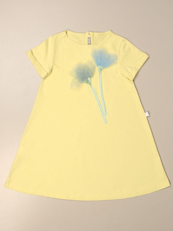 Kleid Il Gufo: Kleid kinder Il Gufo gelb 1