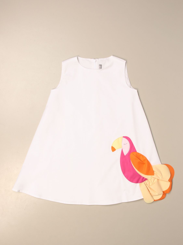 Robe Il Gufo: Robe enfant Il Gufo blanc 1