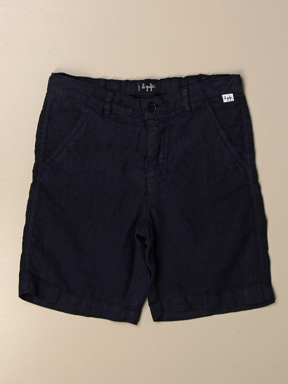 Pantalón corto Il Gufo: Pantalón corto niños Il Gufo azul oscuro 1