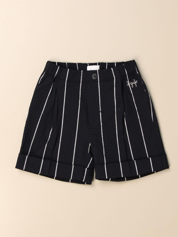 Pantaloncini Il Gufo: Bermuda Il Gufo in cotone a righe blue 1