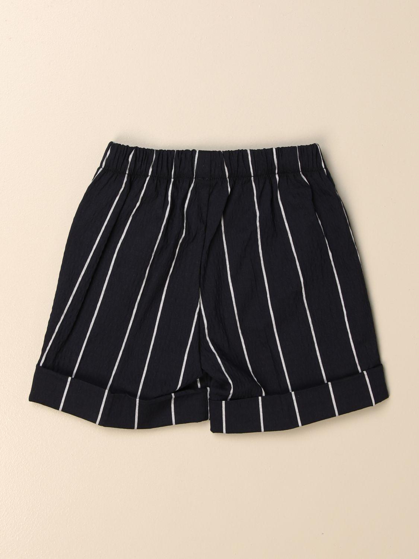 Pantaloncini Il Gufo: Bermuda Il Gufo in cotone a righe blue 2