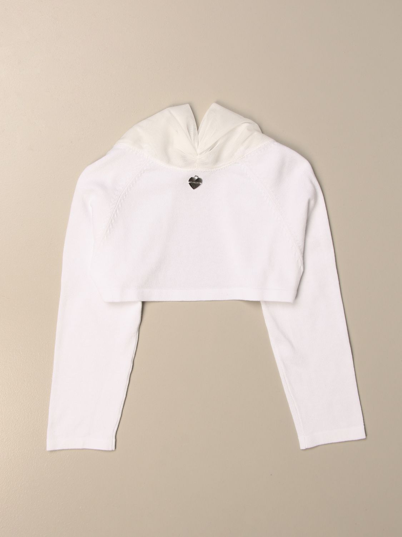 Sweater Twin Set: Twin-set shrug with maxi collar white 2
