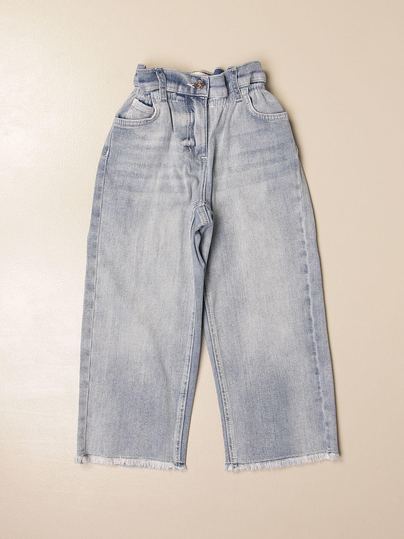 牛仔裤 Twin Set: 牛仔裤 儿童 Twin Set 牛仔布 1