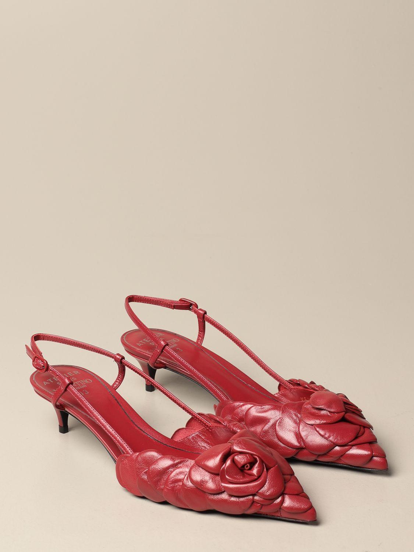 Scarpe con tacco Valentino Garavani: Slingback Atelier Shoes Rose Edition 03 Valentino Garavani in pelle rosso 2