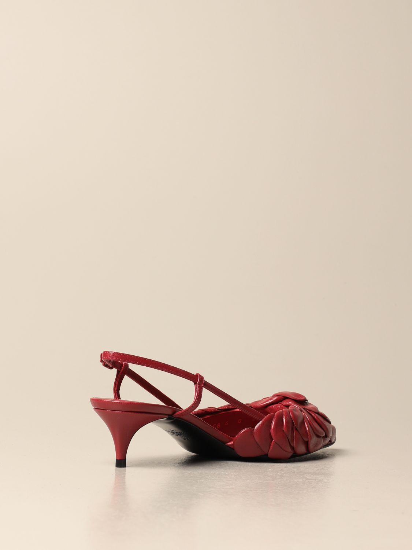 Scarpe con tacco Valentino Garavani: Slingback Atelier Shoes Rose Edition 03 Valentino Garavani in pelle rosso 3
