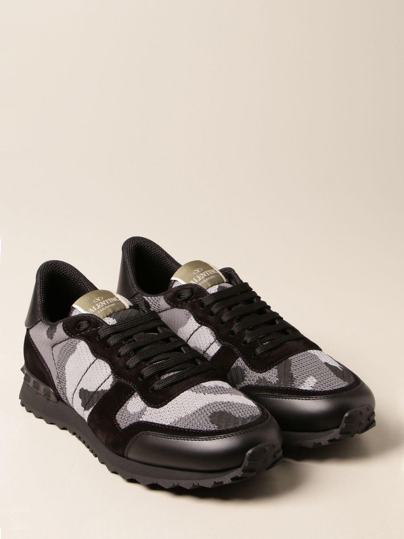 Trainers Valentino Garavani: Valentino Garavani Rock Runner camouflage trainers black 2