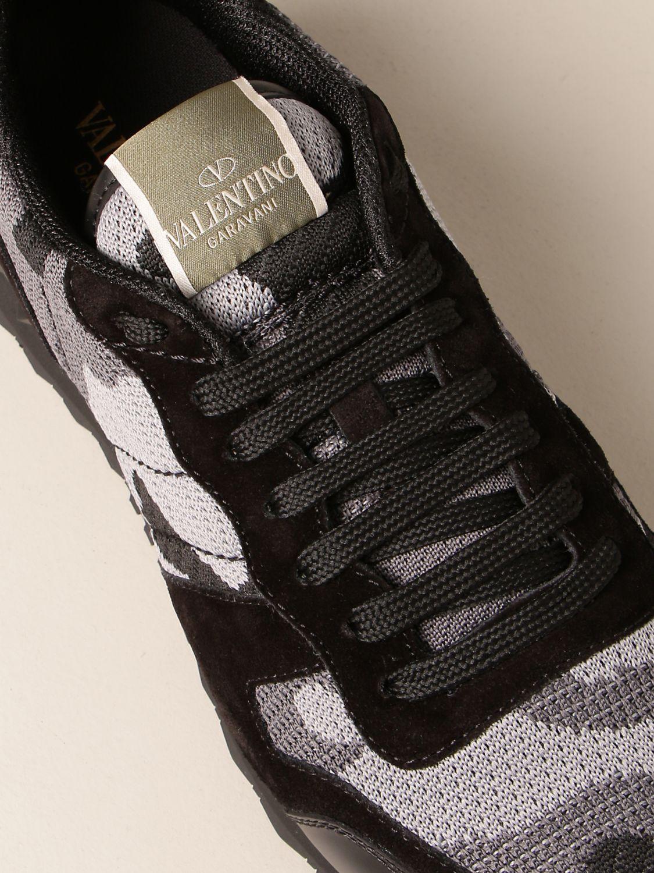 Trainers Valentino Garavani: Valentino Garavani Rock Runner camouflage trainers black 4