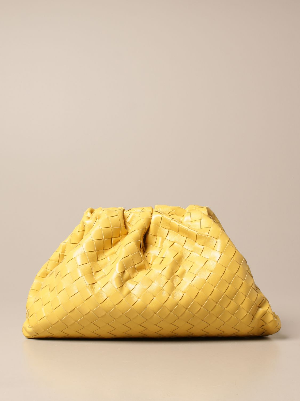 Clutch Bottega Veneta: Clutch The pouch Bottega Veneta in pelle intrecciata giallo 1