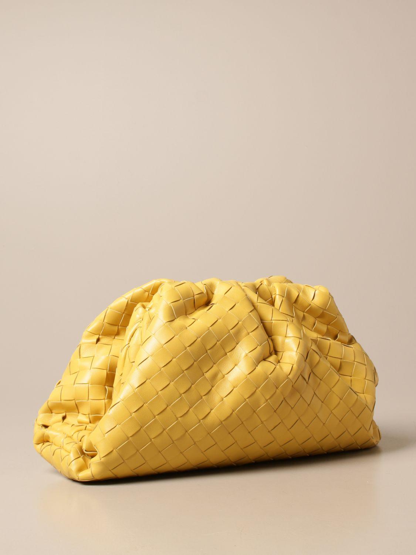 Clutch Bottega Veneta: Clutch The pouch Bottega Veneta in pelle intrecciata giallo 3