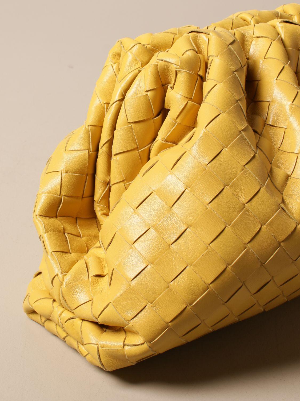 Clutch Bottega Veneta: Clutch The pouch Bottega Veneta in pelle intrecciata giallo 4