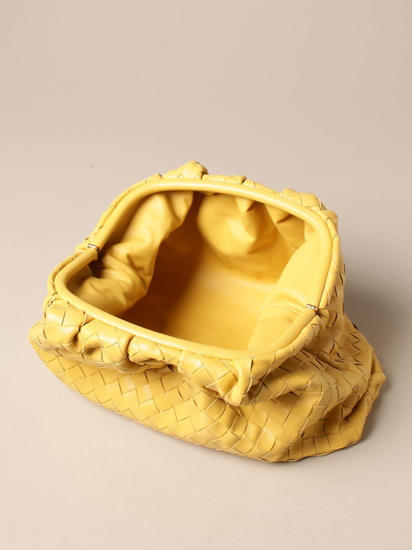 Clutch Bottega Veneta: Clutch The pouch Bottega Veneta in pelle intrecciata giallo 5