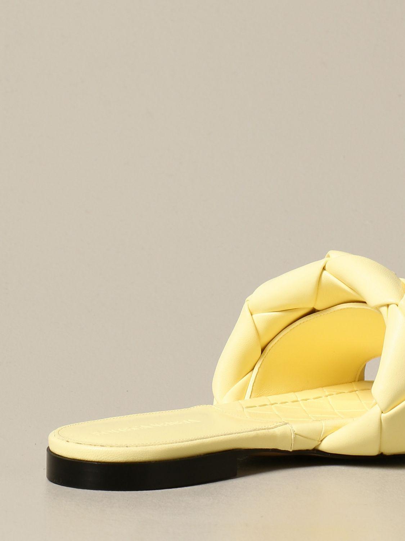 Босоножки без каблука Bottega Veneta: Обувь Женское Bottega Veneta желтый 3