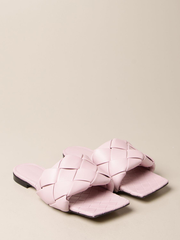 Босоножки без каблука Bottega Veneta: Обувь Женское Bottega Veneta сиреневый 2