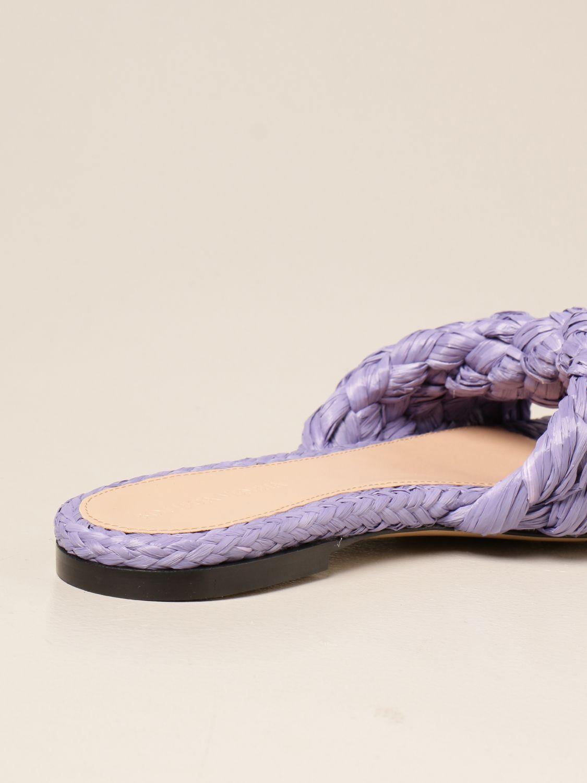 Босоножки без каблука Bottega Veneta: Обувь Женское Bottega Veneta сиреневый 3