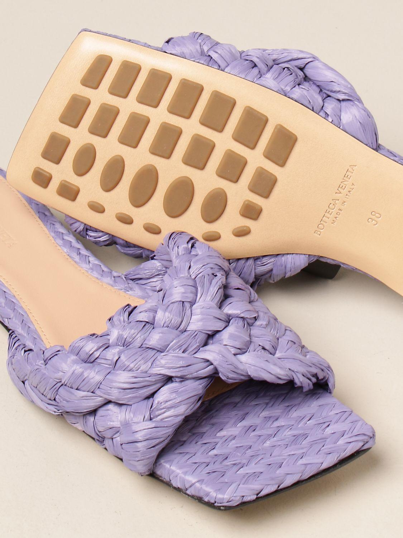 Босоножки без каблука Bottega Veneta: Обувь Женское Bottega Veneta сиреневый 4