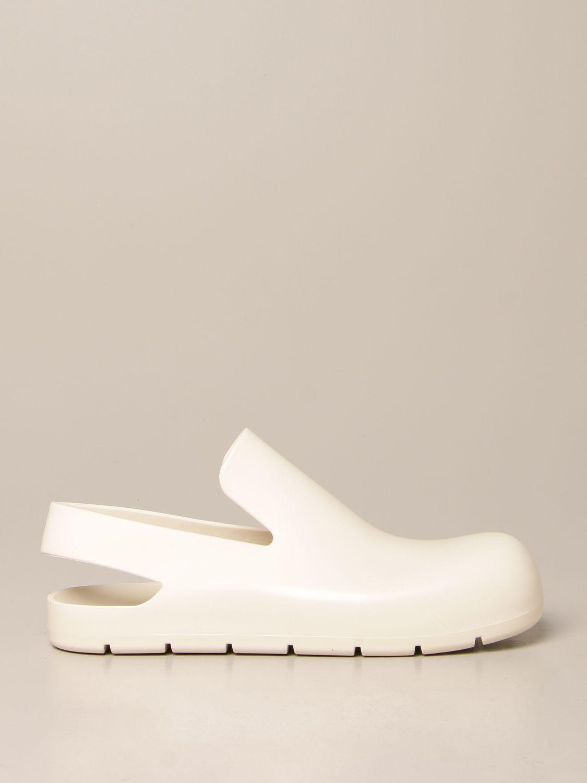 Босоножки без каблука Bottega Veneta: Обувь Женское Bottega Veneta белый 1