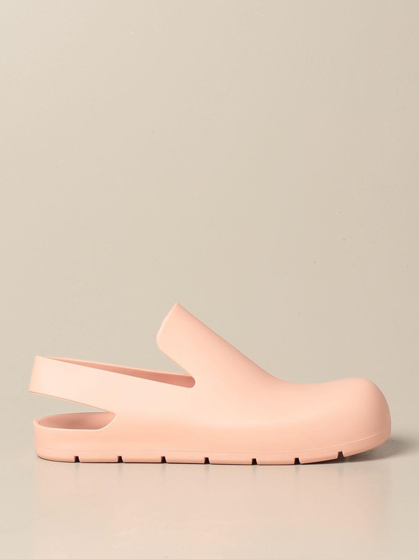 Босоножки без каблука Bottega Veneta: Обувь Женское Bottega Veneta пудра 1