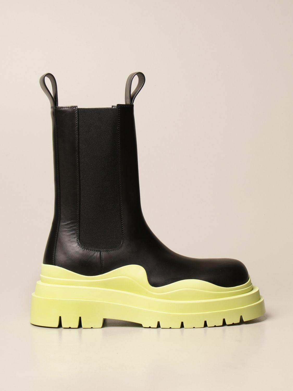 Boots Bottega Veneta: Bottega Veneta Tire Salon 01 boot in calfskin lime 1