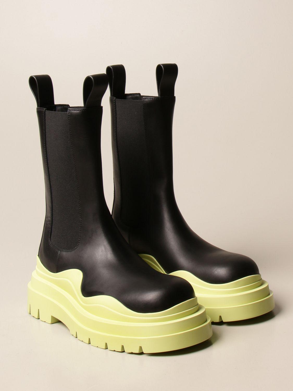 Boots Bottega Veneta: Bottega Veneta Tire Salon 01 boot in calfskin lime 2