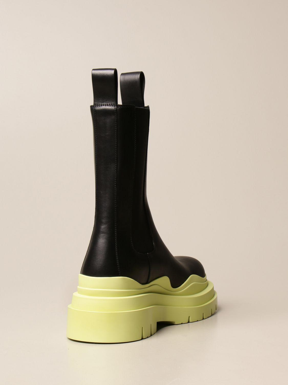 Boots Bottega Veneta: Bottega Veneta Tire Salon 01 boot in calfskin lime 3