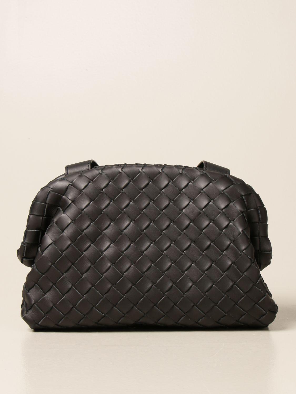 Shoulder bag Bottega Veneta: Bottega Veneta Hidrology Salon 01 bag in woven leather black 1