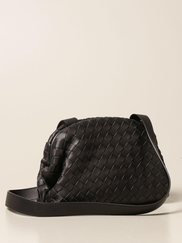 Shoulder bag Bottega Veneta: Bottega Veneta Hidrology Salon 01 bag in woven leather black 2